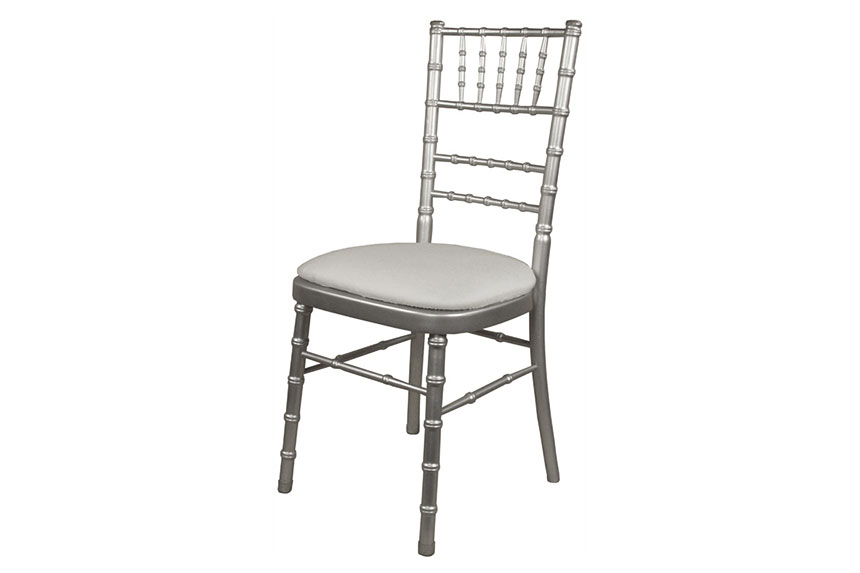 Black chiavari chairs with gold cushion - Stackable Silver Beechwood Chair Solid Wood Seat Amp Metal Rods In